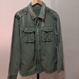 Vintage Olive Military Field Jacket